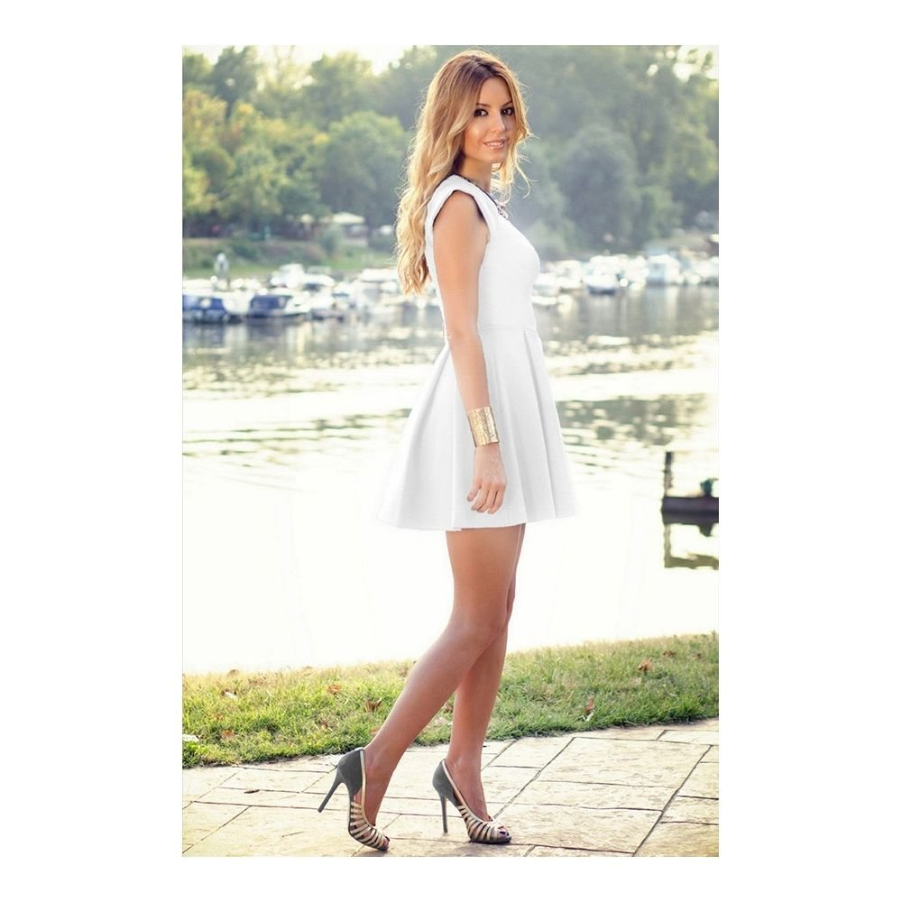 a3aaeb155f Rozkloszowana nowoczesna sukienka - cena