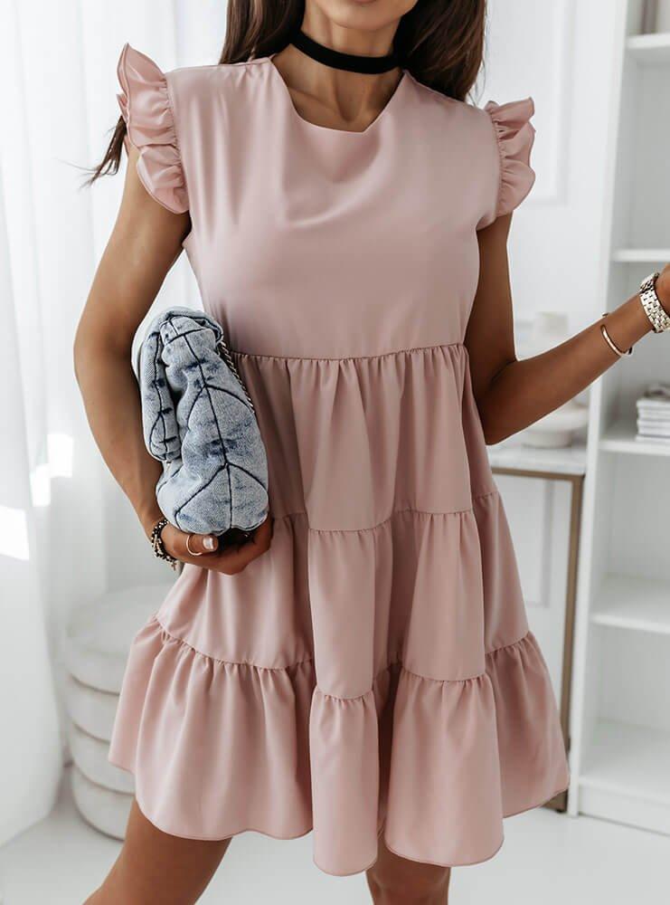 Sukienka z falbankami przy rękawie...