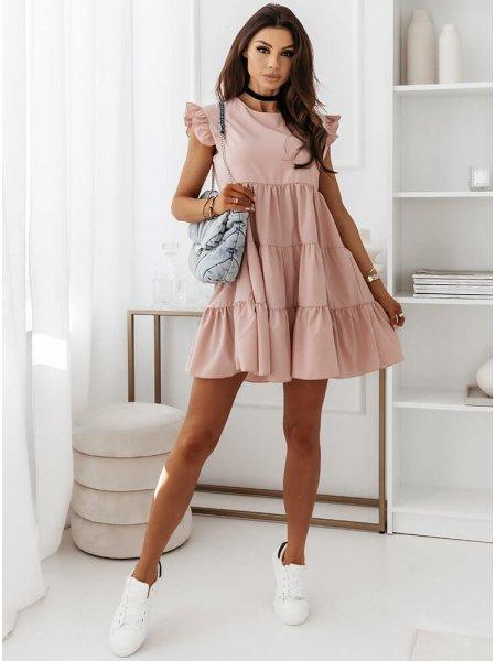 Sukienka z falbankami przy...