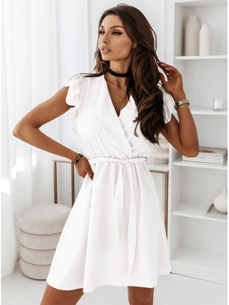 Biała sukienka z...