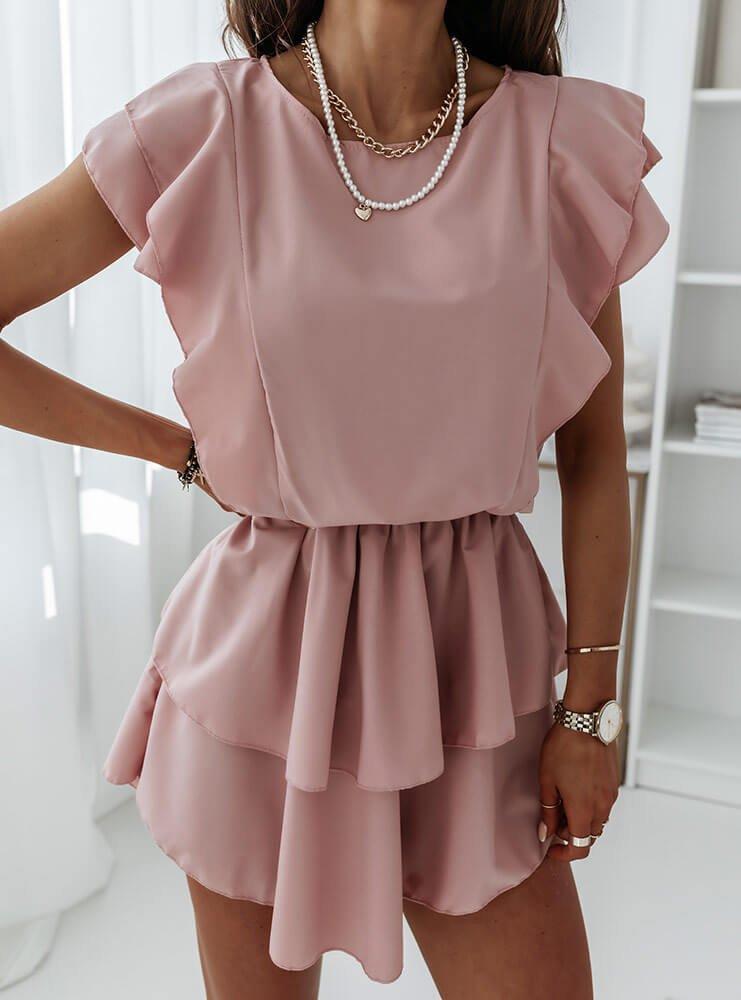 Sukienka z falbankami Solrunn -...