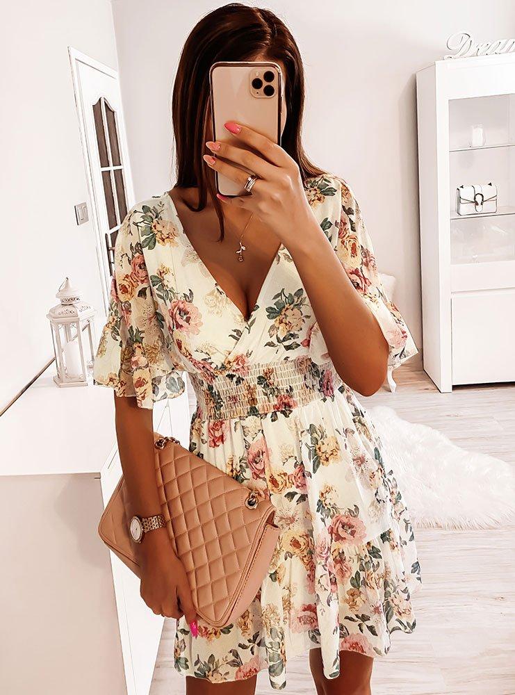 Sukienka w kwiaty Gimi - wzór 1