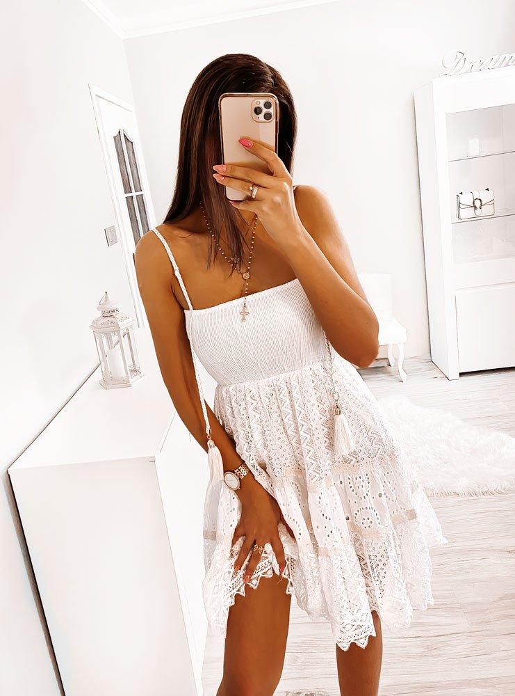 Letnia koronkowa sukienka na...