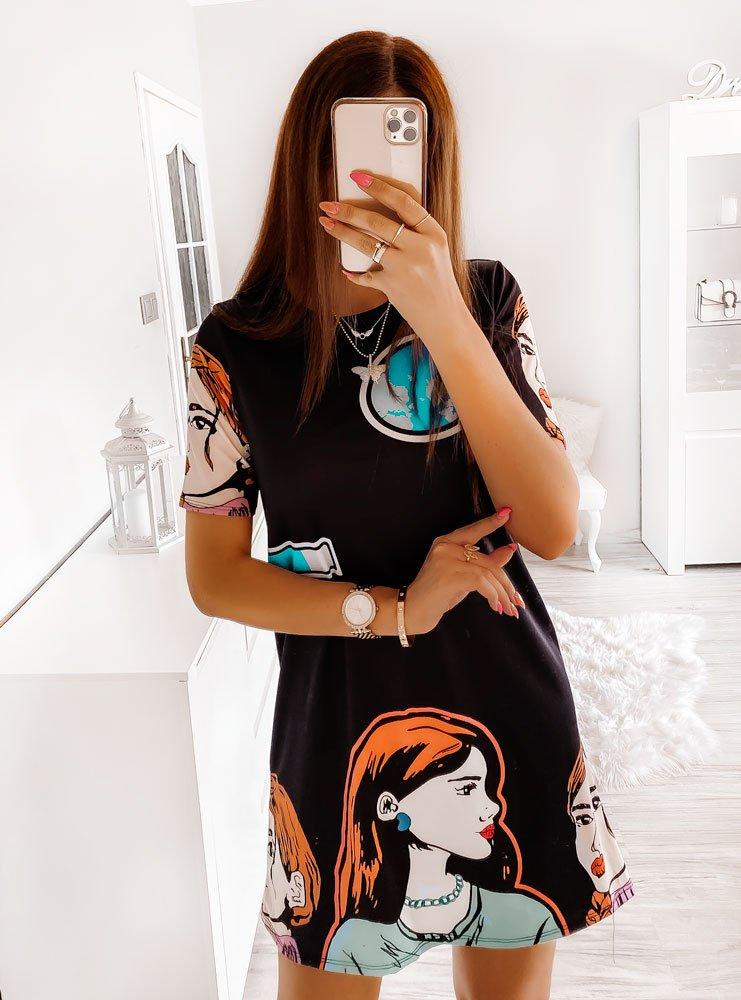 Sukienka z komiksowym nadrukiem Serife