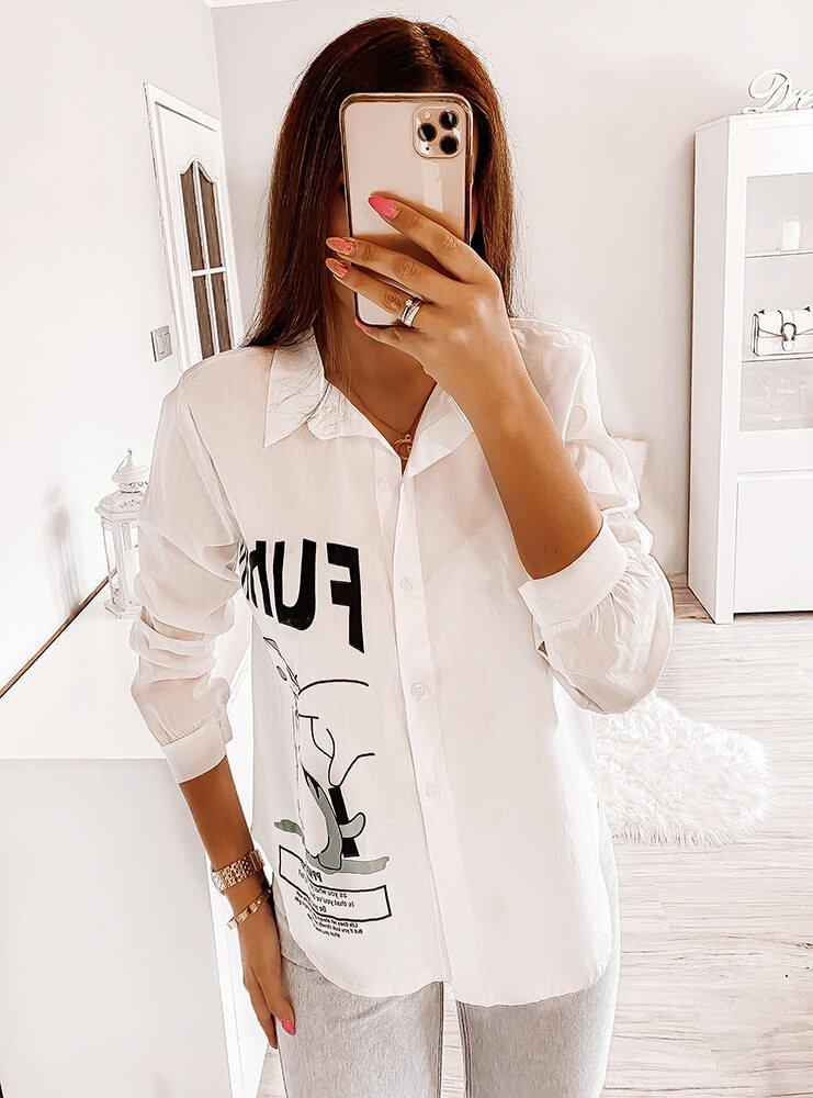Koszula z ozdobnym motywem Driva