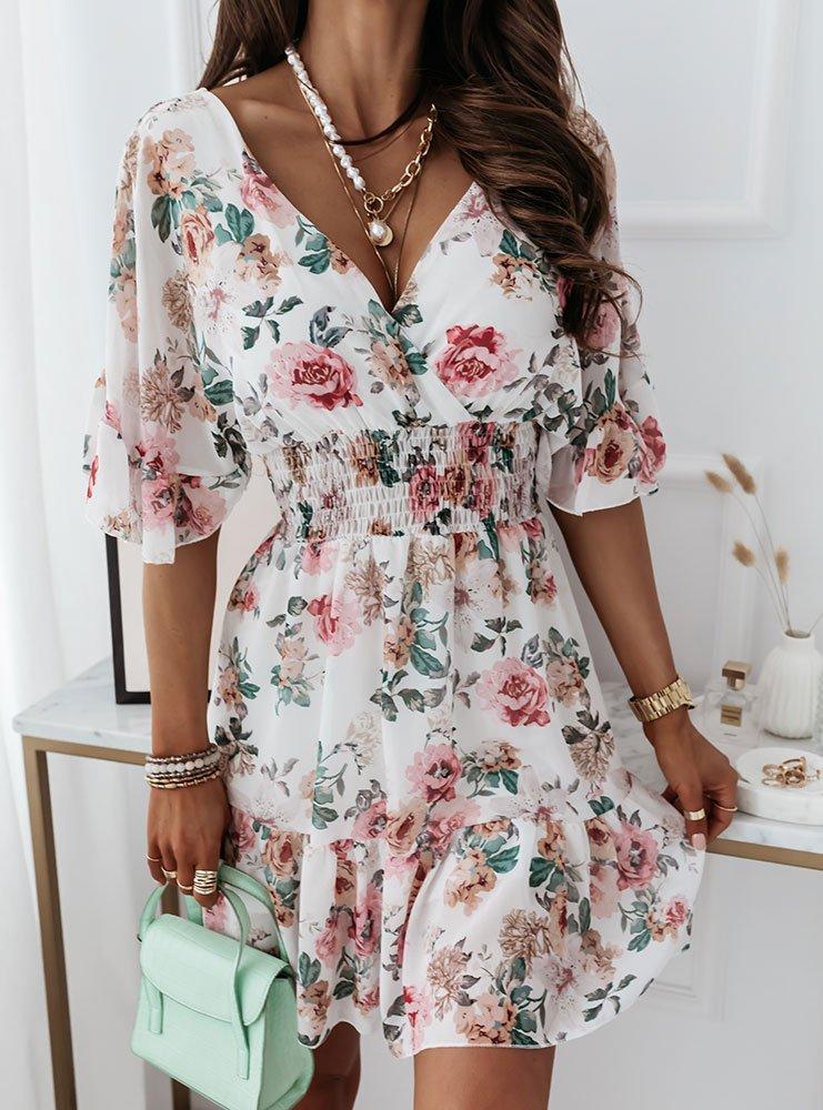 Sukienka w kwiaty Cylia - wzór 1