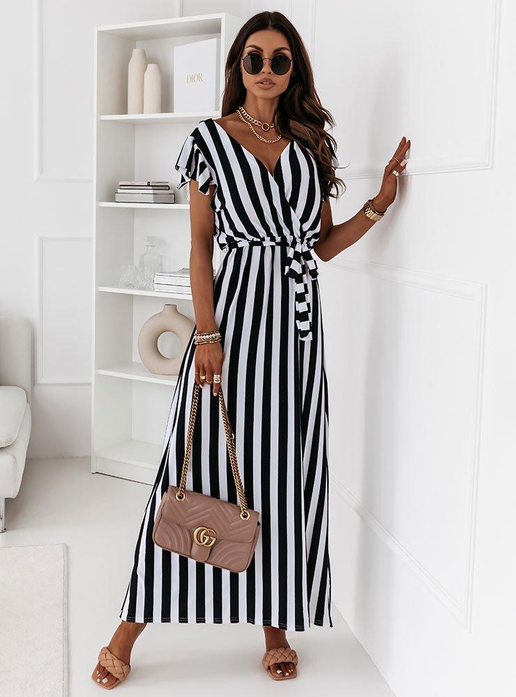 Sukienka w pionowe pasy Rimba