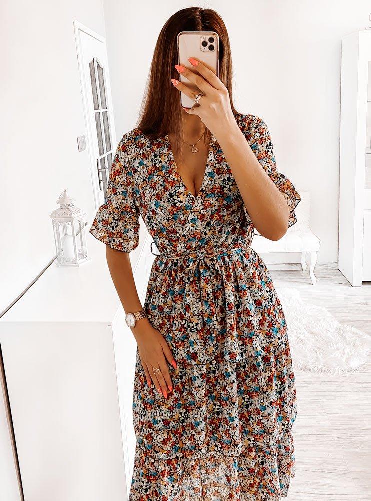 Wzorzysta sukienka midi Younique - wzór 1