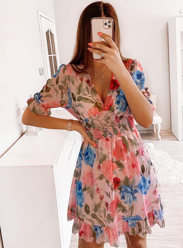 Rozkloszowana wzorzysta sukienka Sarya - wzór 1