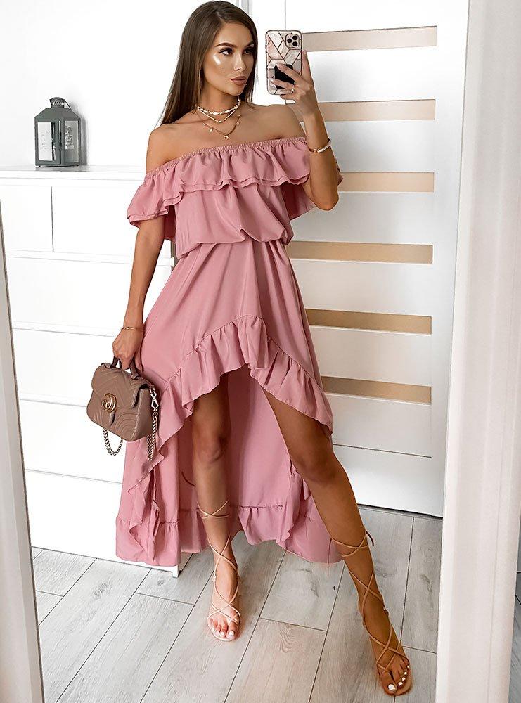 Asymetryczna sukienka hiszpanka...