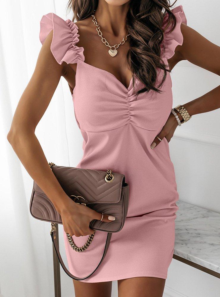 Sukienka na ramiączkach z dekoltem...