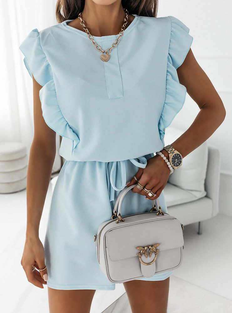 Błękitna sukienka typu szmizjerka Eviee