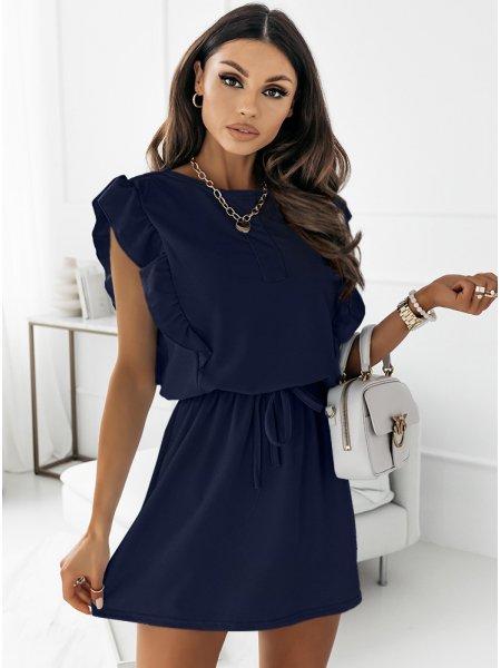 Granatowa sukienka typu...