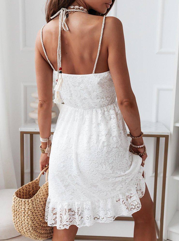 Biała koronkowa sukienka Belli