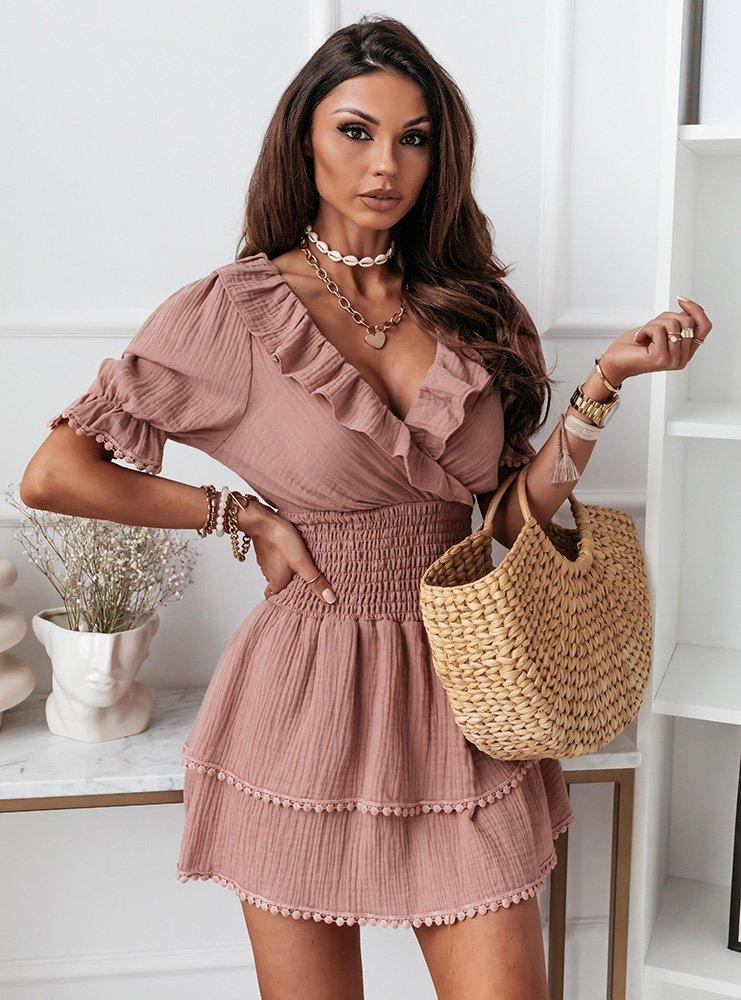 Sukienka z falbankami Rizalla -...