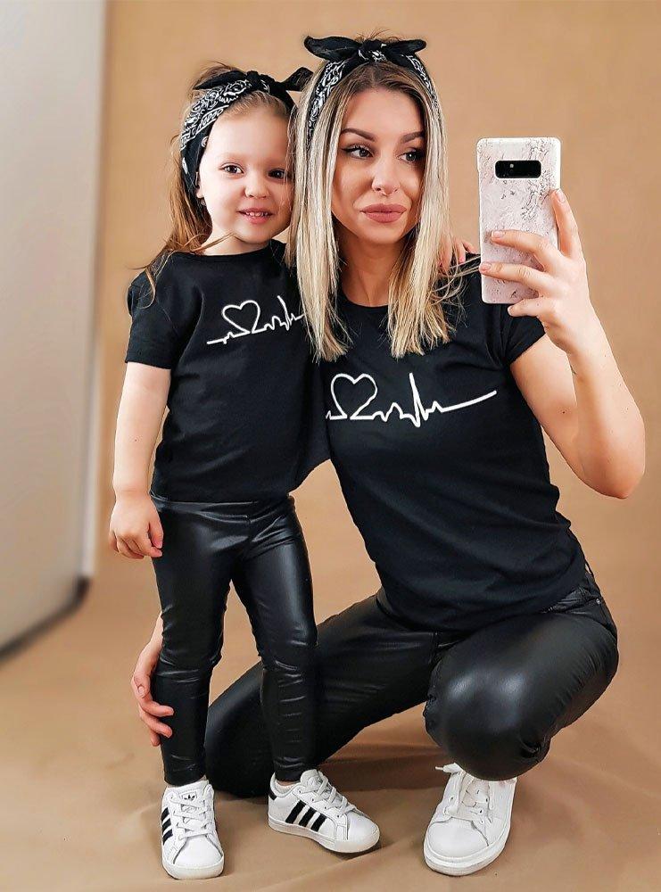 Zestaw koszulki z nadrukiem mama i...