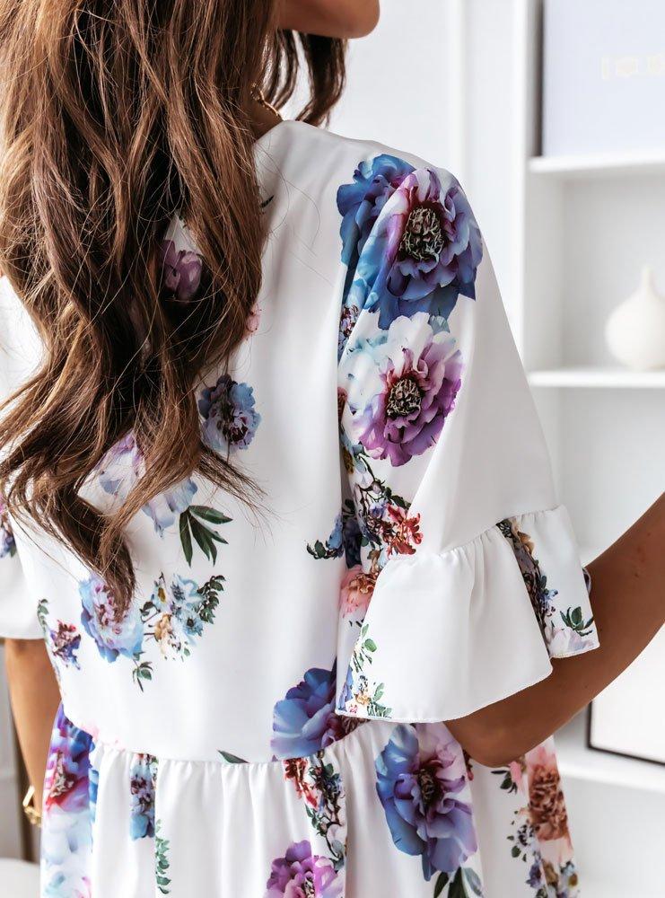 Wzorzysta sukienka Rislene - D32C1