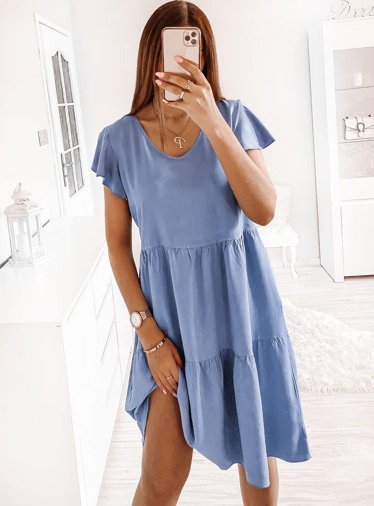 Niebieska sukienka oversize Odelina