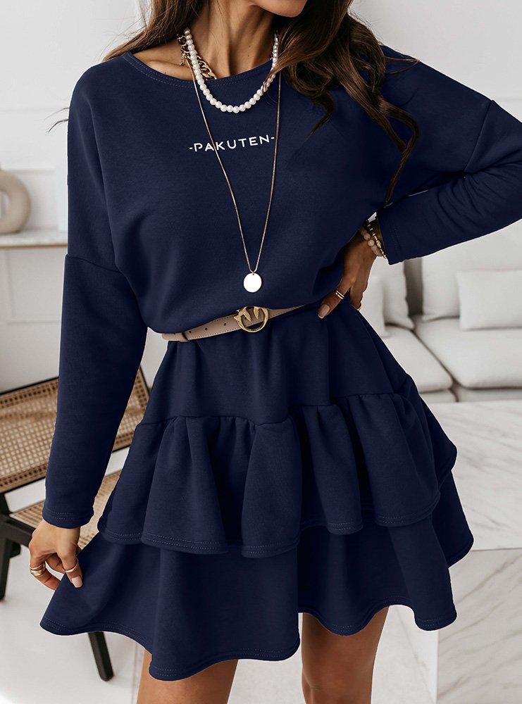 Granatowa logowana dresowa sukienka...