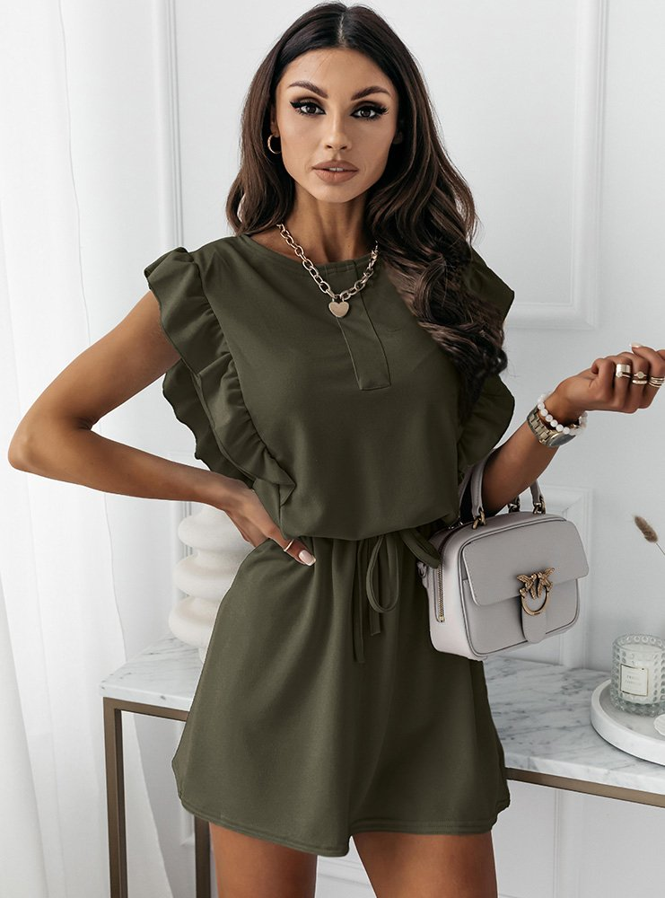 Sukienka typu szmizjerka Eviee - khaki