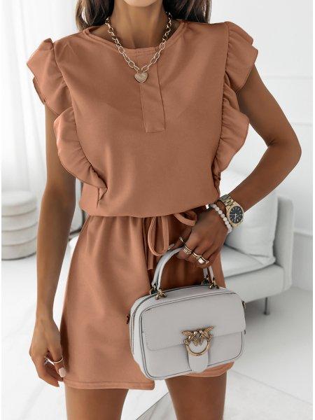 Karmelowa sukienka typu...