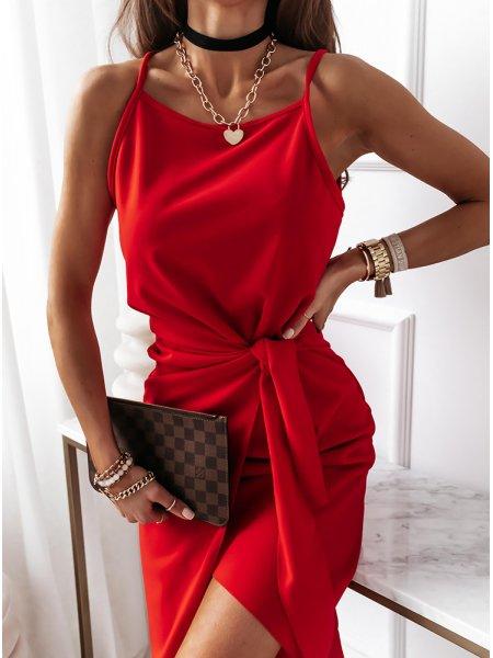 Malinowa sukienka na...
