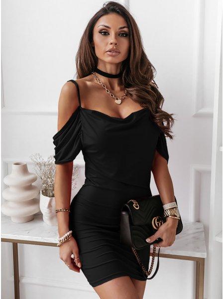 Czarna sukienka hiszpanka...