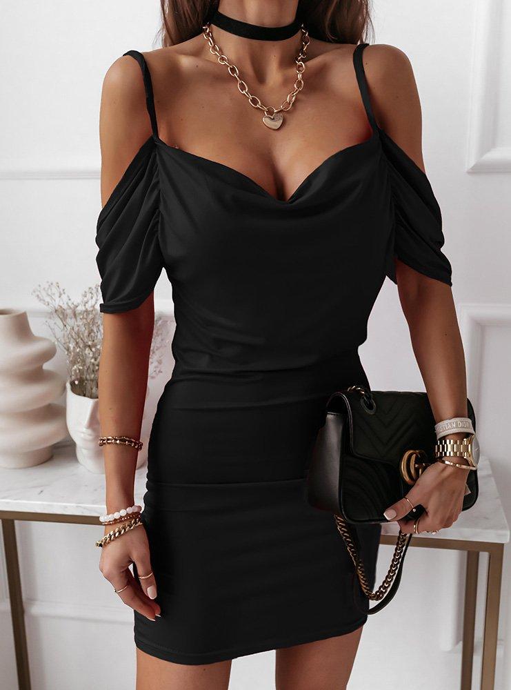 Czarna sukienka hiszpanka Ninee