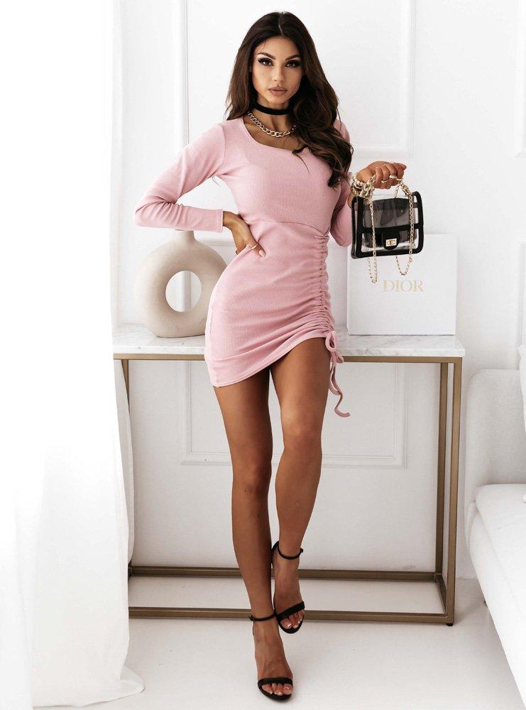 Prążkowana sukienka ze ściągaczem...