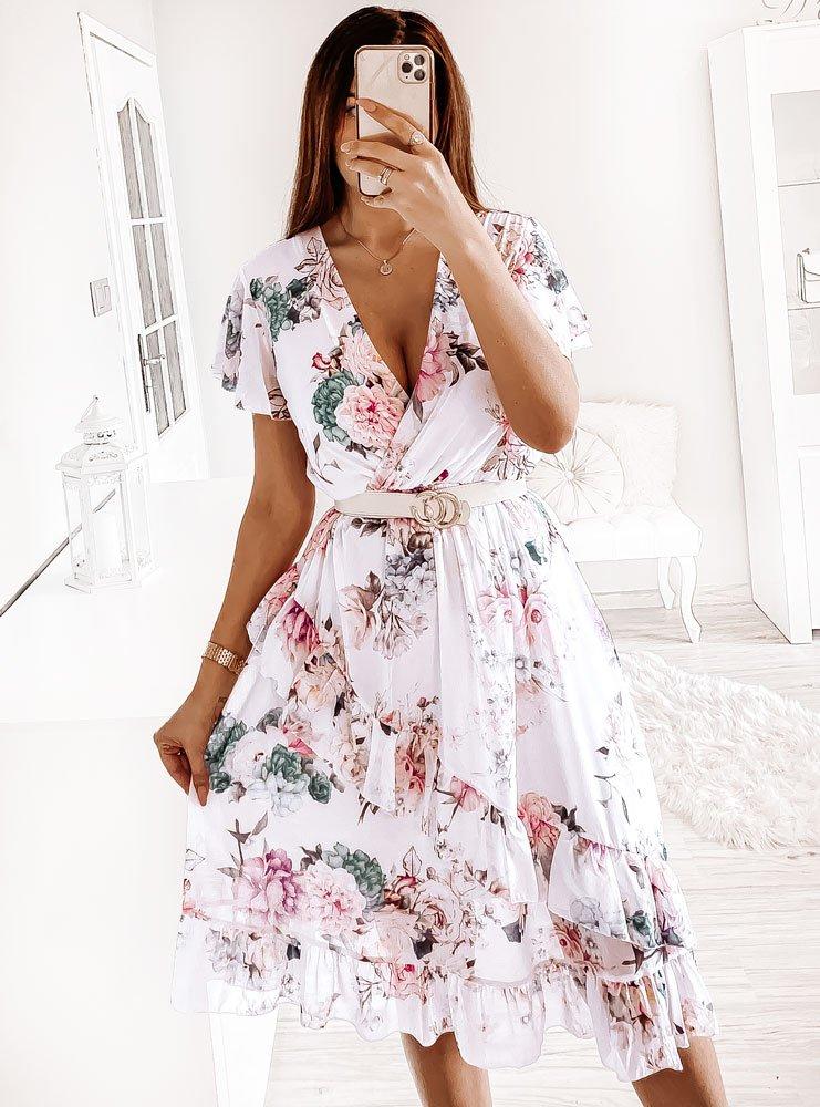 Przekładana sukienka w kwiaty z...
