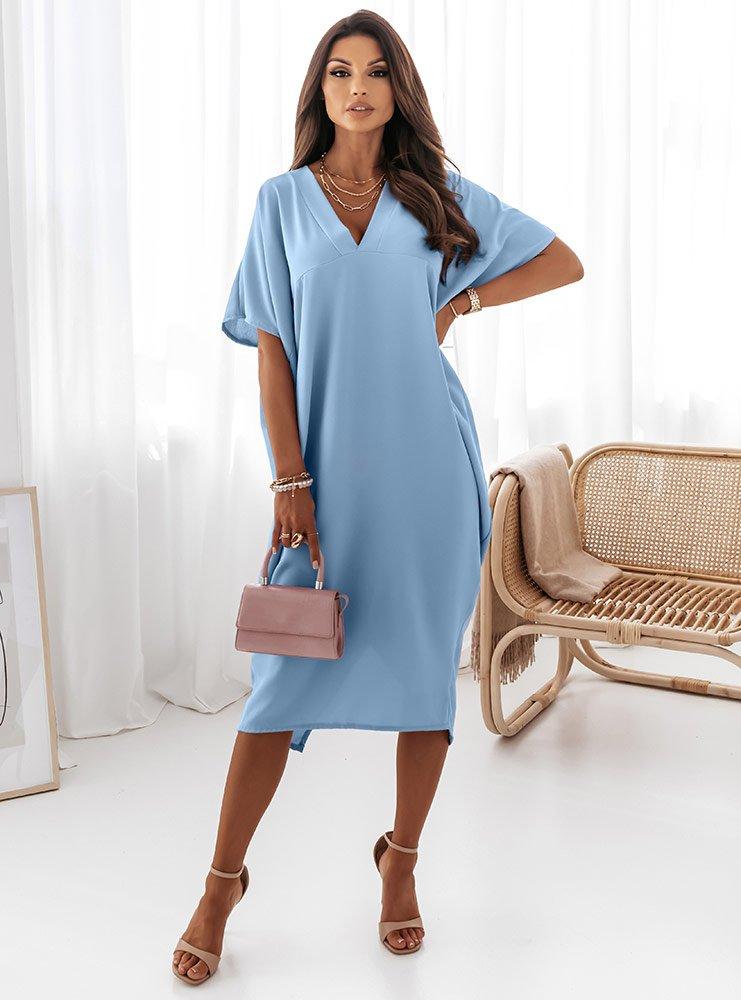 Błękitna oversizowa sukienka Shienna