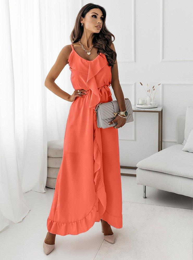 Asymetryczna sukienka na ramiączkach...
