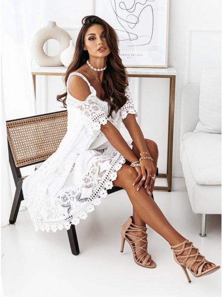 Biała sukienka hiszpanka z...