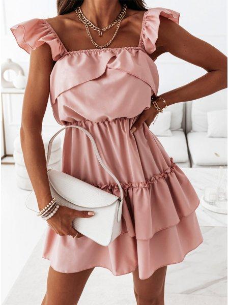 Sukienka z falbankami...