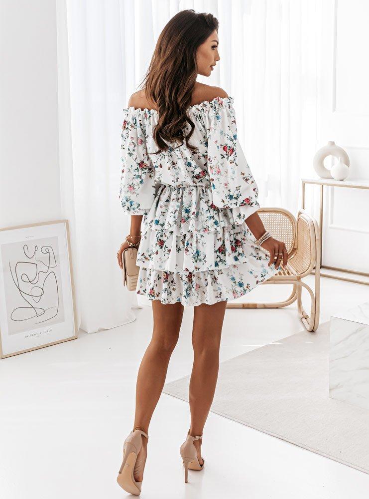 Wzorzysta sukienka hiszpanka z...