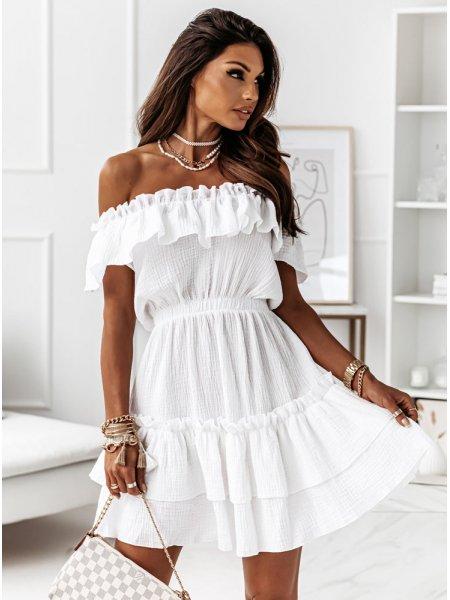 Biała muślinowa sukienka...