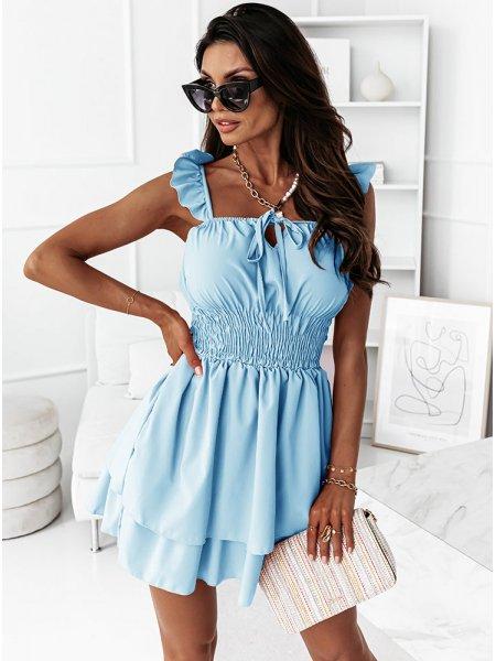 Błękitna sukienka hiszpanka...