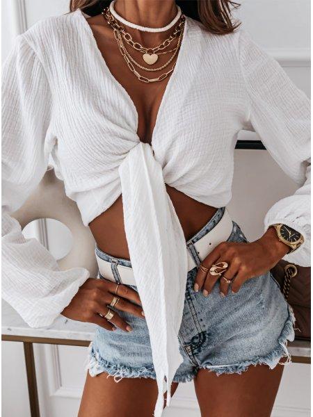 Biała muślinowa bluzka...