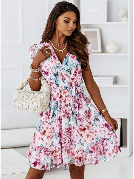 Sukienka w kwiaty z...