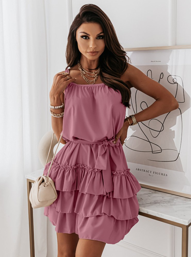 Sukienka na ramiączkach z falbankami...