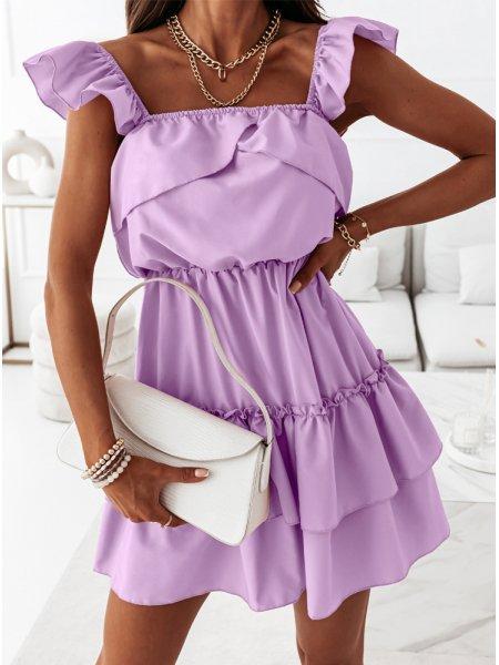 Liliowa sukienka z...