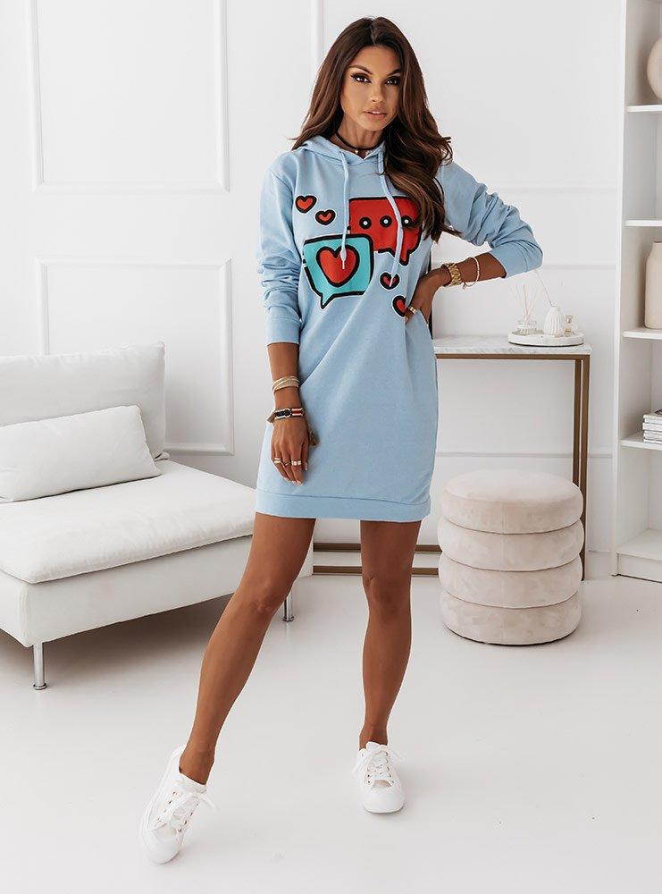 Błękitna sukienka sportowa z...