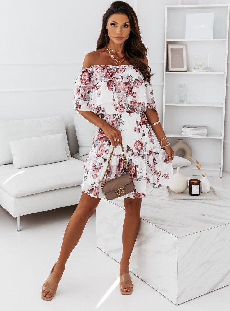 Wzorzysta sukienka hiszpanka Elinka -...