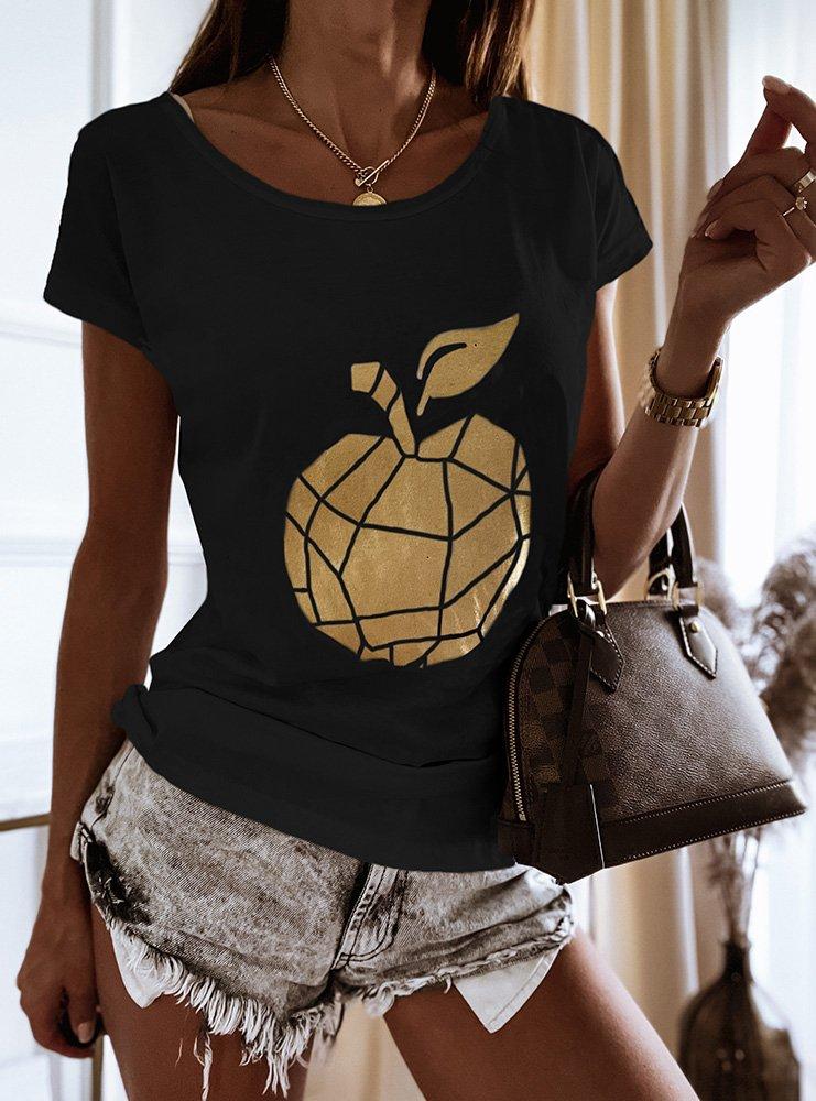 Czarna koszulka z nadrukiem Rikia