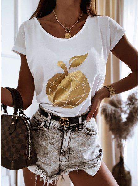 Biała koszulka z nadrukiem...