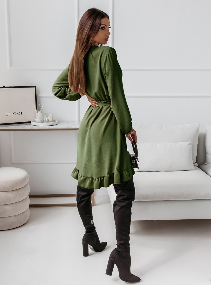 Sukienka z falbankami Gabalia - khaki