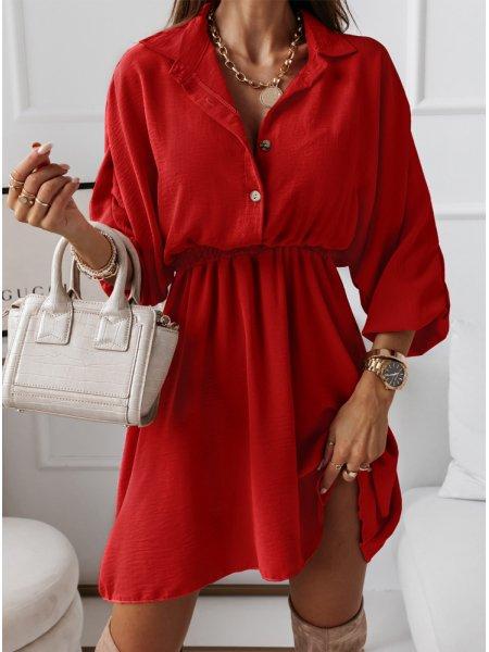 Malinowa sukienka typu...