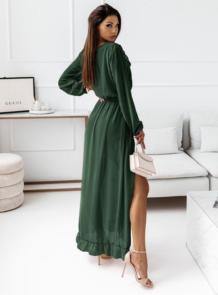 Długa sukienka z falbanami Irinia -...