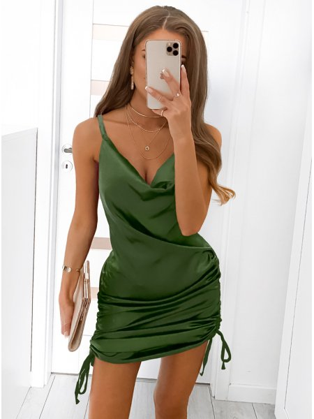 Atłasowa sukienka z...