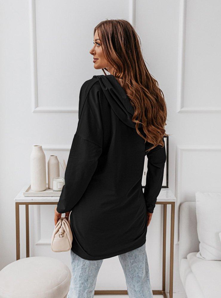 Czarna bluza oversize z zamkiem Treeya